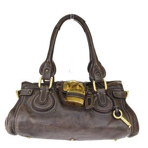 Chloé Paddington Leather Shoulder Bag Brown